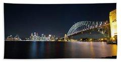 Sydney Harbour Silk Hand Towel