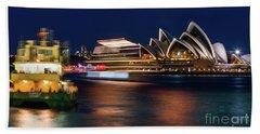 Sydney Night Life Hand Towel