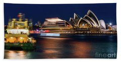 Sydney Night Life Bath Towel
