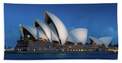 Sydney Opera House After Dark Bath Towel