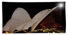 Hand Towel featuring the photograph Sydney Opera House Close View 2 By Kaye Menner by Kaye Menner