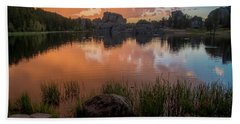 Hand Towel featuring the photograph Sylvan Lake by Gary Lengyel