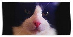 Sylvester Tuxedo Cat Bath Towel