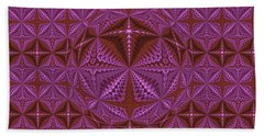 Symmetrical Pattern, Kaleidoscope Bath Towel
