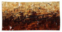 Hand Towel featuring the painting Symphony by Carmen Guedez