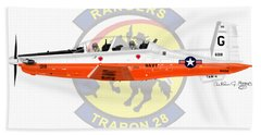 T-6b Texan II Vt28 Hand Towel by Arthur Eggers