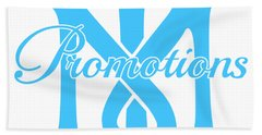 Bath Towel featuring the drawing T And M Promotions Logo by Nicholas Grunas