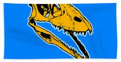 T-rex Graphic Hand Towel by Pixel  Chimp