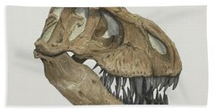 T. Rex Skull 2 Bath Towel