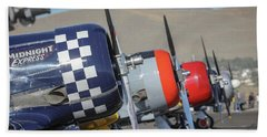 T6 Flight Line At Reno Air Races Hand Towel
