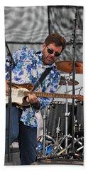 Tab Benoit Plays His 1972 Fender Telecaster Thinline Guitar Hand Towel