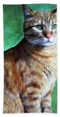 Tabby Cat Bath Towel