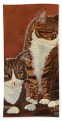 Tabby Cats Portrait Bath Towel