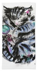 Tabby Dreams Hand Towel
