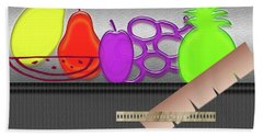 Bath Towel featuring the photograph Table Fruits by Tina M Wenger