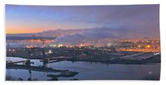 Tacoma Dawn Panorama Bath Towel