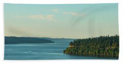 Tacoma Narrows And Commencement Bay II Hand Towel