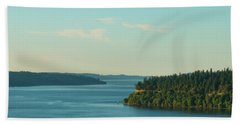Tacoma Narrows And Commencement Bay II Bath Towel