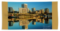 Tacoma's Waterfront,washington Bath Towel