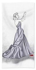 Hand Towel featuring the digital art Taffeta Gown by Cindy Garber Iverson