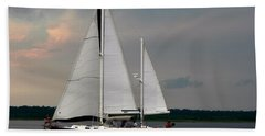 Tahiti Under Sail Bath Towel