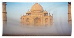Taj Mahal In The Mist Bath Towel