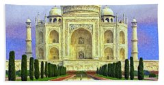 Taj Mahal Morning Bath Towel