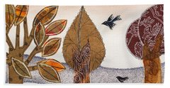 Take A Rest In Autumn Hand Towel