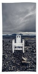 Hand Towel featuring the photograph Take A Seat Iceland by Edward Fielding