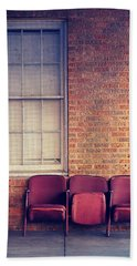 Hand Towel featuring the photograph Take A Seat by Trish Mistric