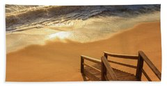 Take The Stairs To The Waves Bath Towel by Joni Eskridge