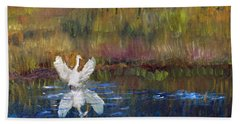 Bath Towel featuring the painting Taking Flight by Michael Helfen