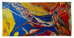 Bath Towel featuring the painting Taking The Reins by Deborah Nell