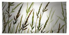 Hand Towel featuring the digital art Tall Grass And Sunlight by James Williamson