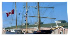 Bath Towel featuring the photograph Tall Ship Waiting by RC DeWinter