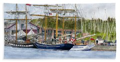 Bath Towel featuring the painting Tall Ships Festival by Melly Terpening