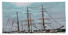 Tall Ships Hand Towel