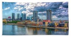 Tampa Florida Skyline Hand Towel