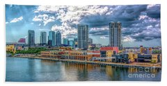 Tampa Florida Skyline Bath Towel