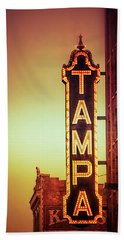 Bath Towel featuring the photograph Tampa Theatre by Carolyn Marshall