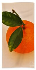 Tangerine By Nature Hand Towel by Jasna Gopic