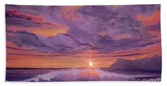 Tangerine Sky Bath Towel by Holly Martinson