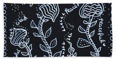 Tangle Flowers Hand Towel