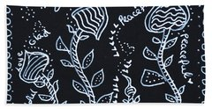 Tangle Flowers Bath Towel