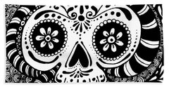 Tangled Skull Hand Towel