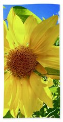 Tangled Sunflower Bath Towel