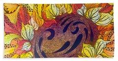 Tangled Sunflower Hand Towel