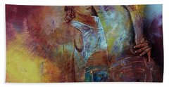 Tango Couple Dance Vby7 Hand Towel by Gull G