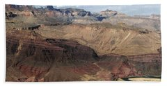 Tanner Rapids And The Colorado River Grand Canyon National Park Hand Towel