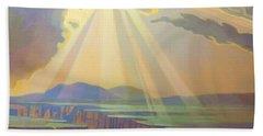 Taos Gorge God Rays Bath Towel